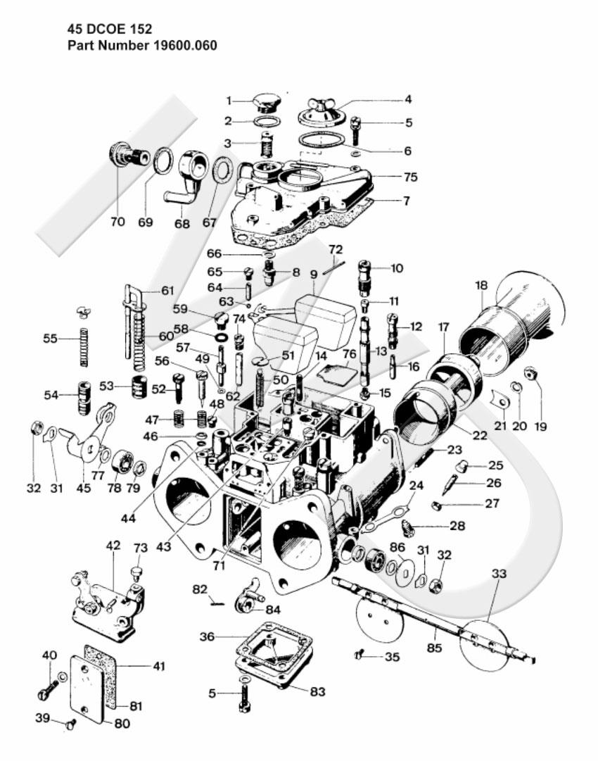 3 genuine weber 45 dcoe 152 triple side draft carb carburetor 45dcoe 1976 Jeep CJ5 Carburetor 3 genuine weber 45 dcoe 152 triple side draft carb carburetor 45dcoe new