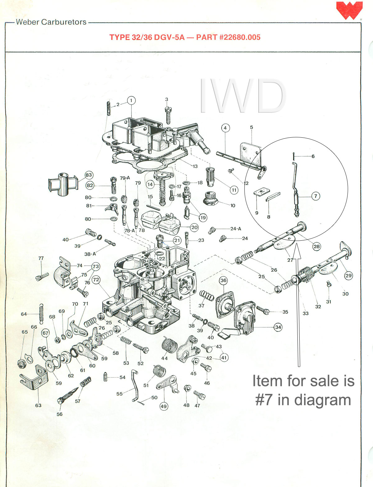 Weber 32  36 Dgv Carburetor Carb