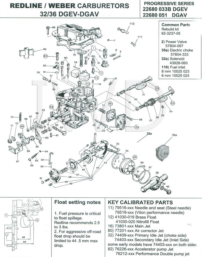 weber redline 32  36 dgv dgav dgev carburetor carb rebuild