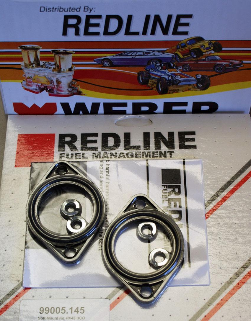 42 Weber Redline 40 45 DCOE Soft Mount Anti Vibration O-ring Base Gasket Kit