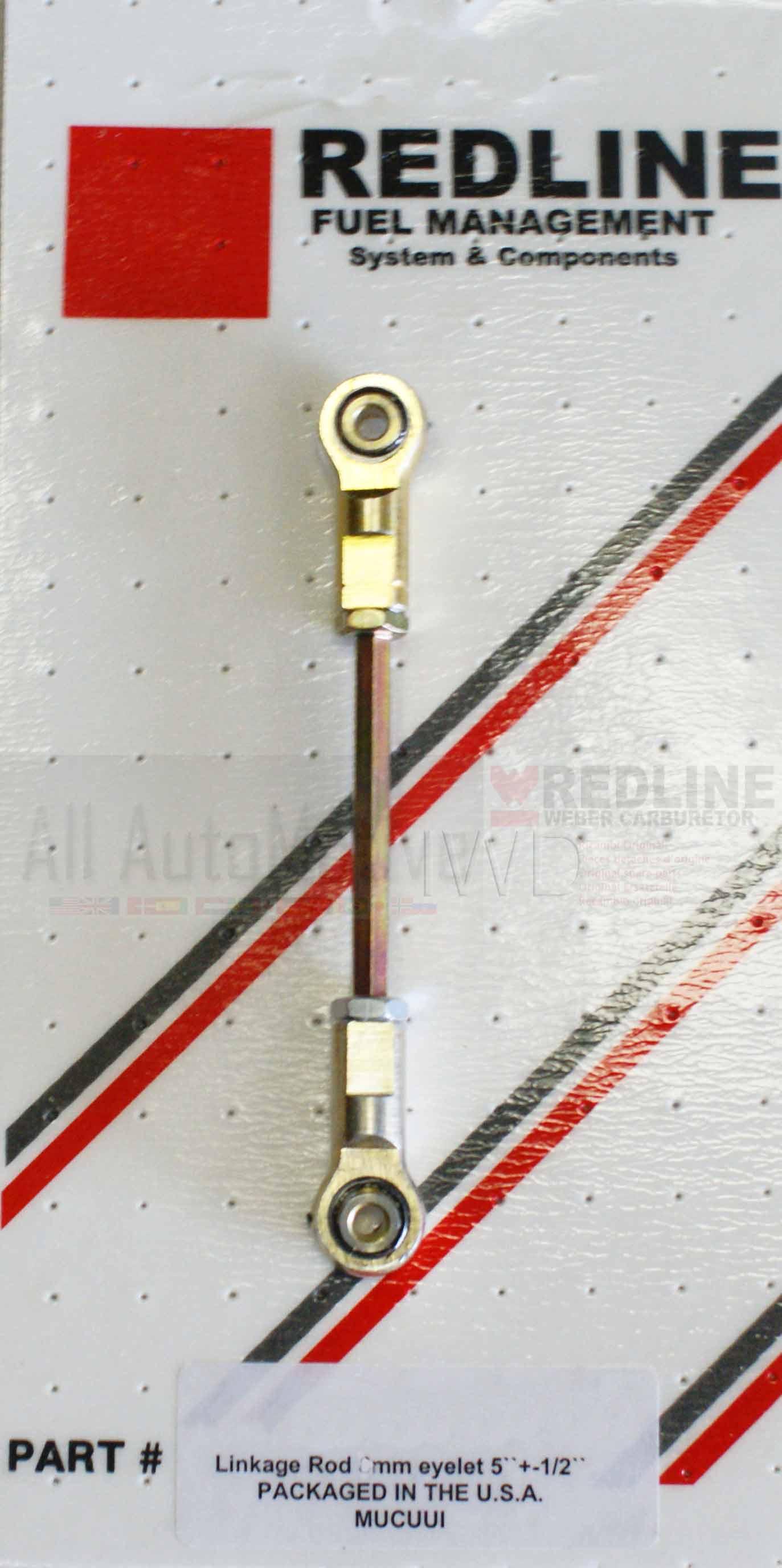 "6/"" Weber Carb Universal adjustable Throttle Linkage Rod swivel ends w//5mm end"
