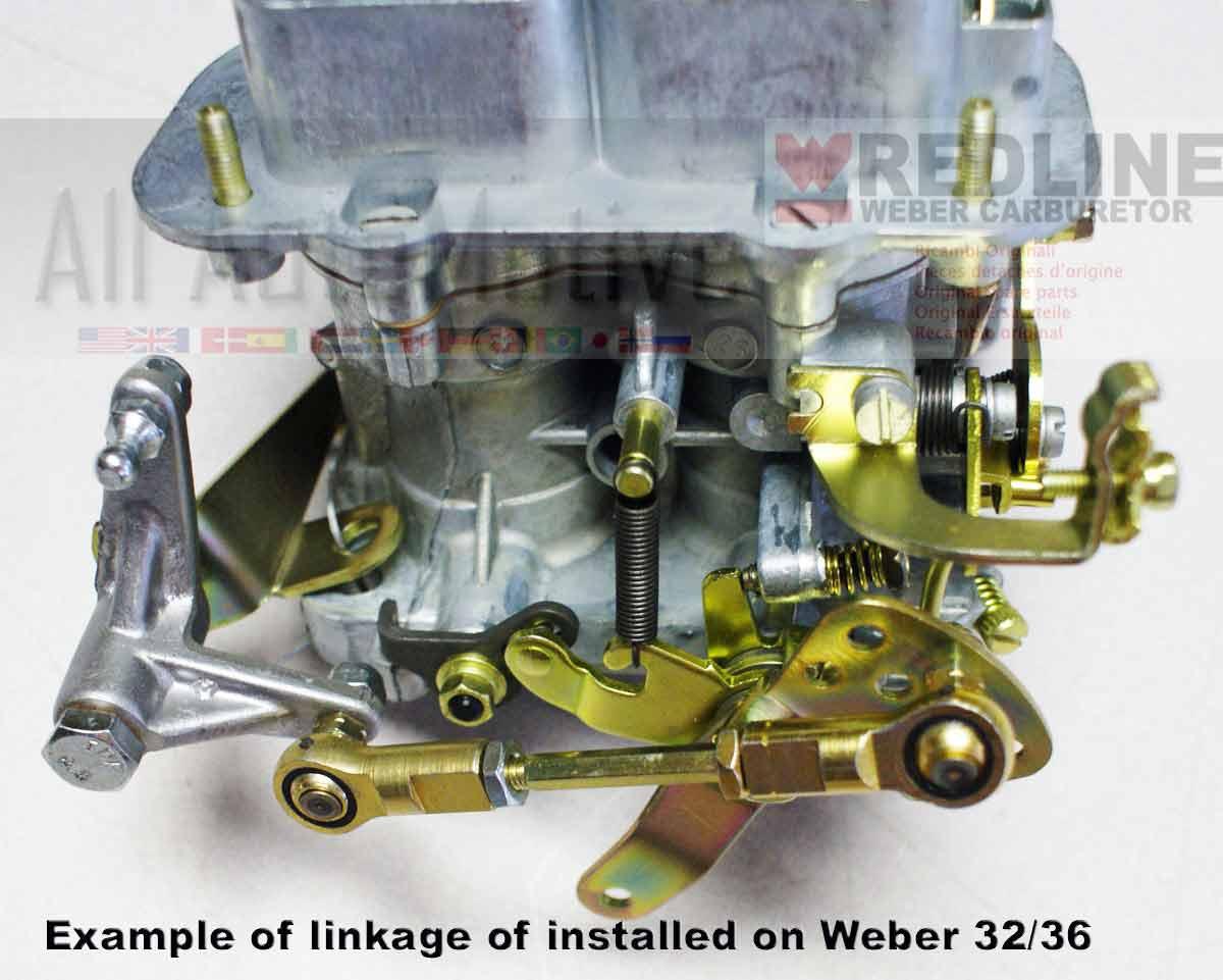 Jeep Cj7 Wrangler Cherokee 4 2 Redline Linkage Kit For Weber Dgv  Dgev  Or Dgav