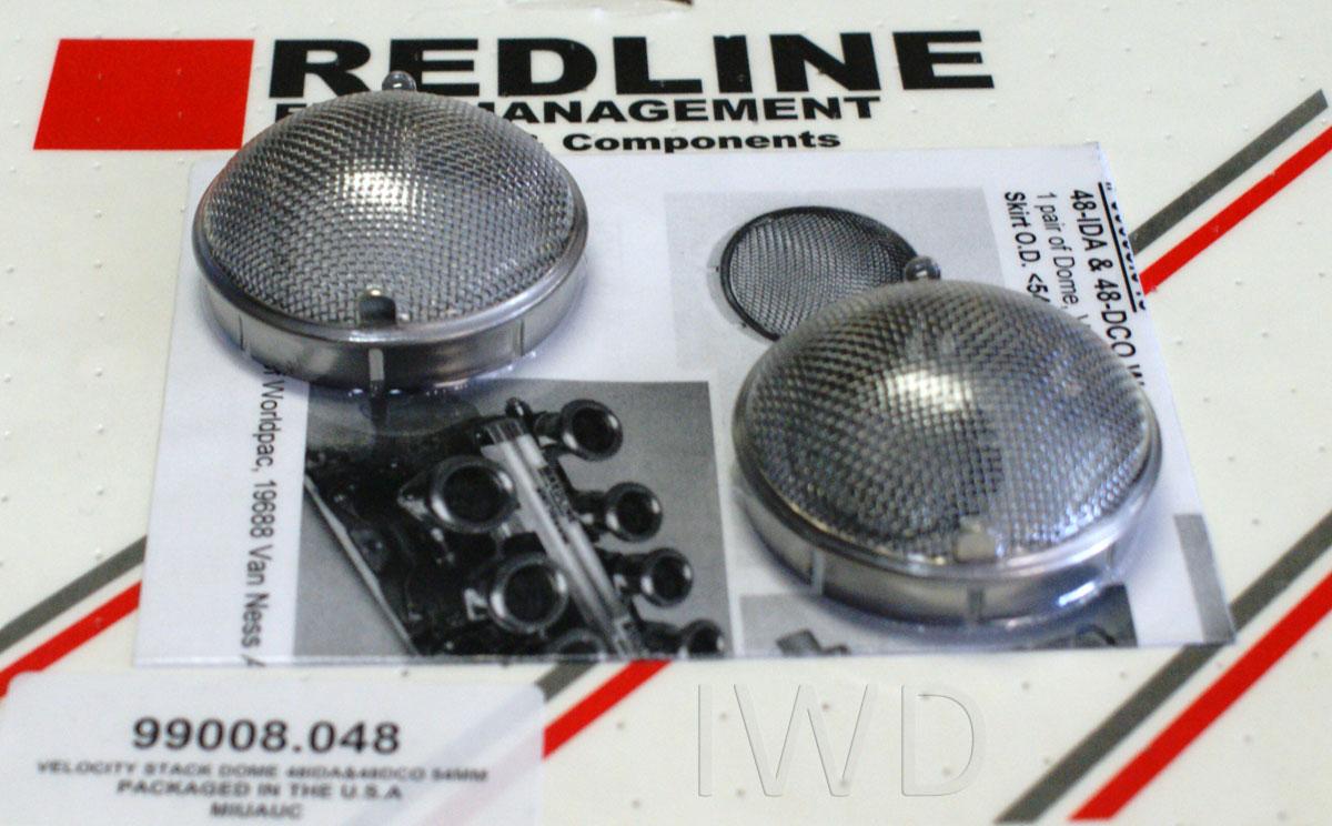 """Velocity Stack Screen Pair 3 1//4/"""" for /""""Tall/"""" air horns V8 Redline Weber Kits"""
