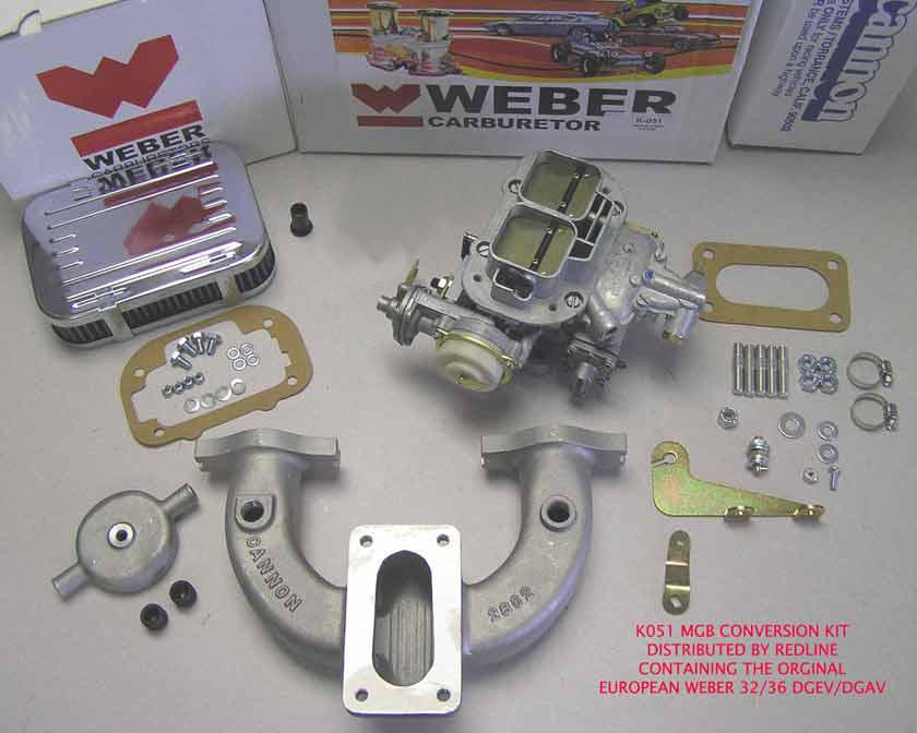 Weber Conversion Kit W  Electric Choke Weber Carb Fits Mg Mgb 1962