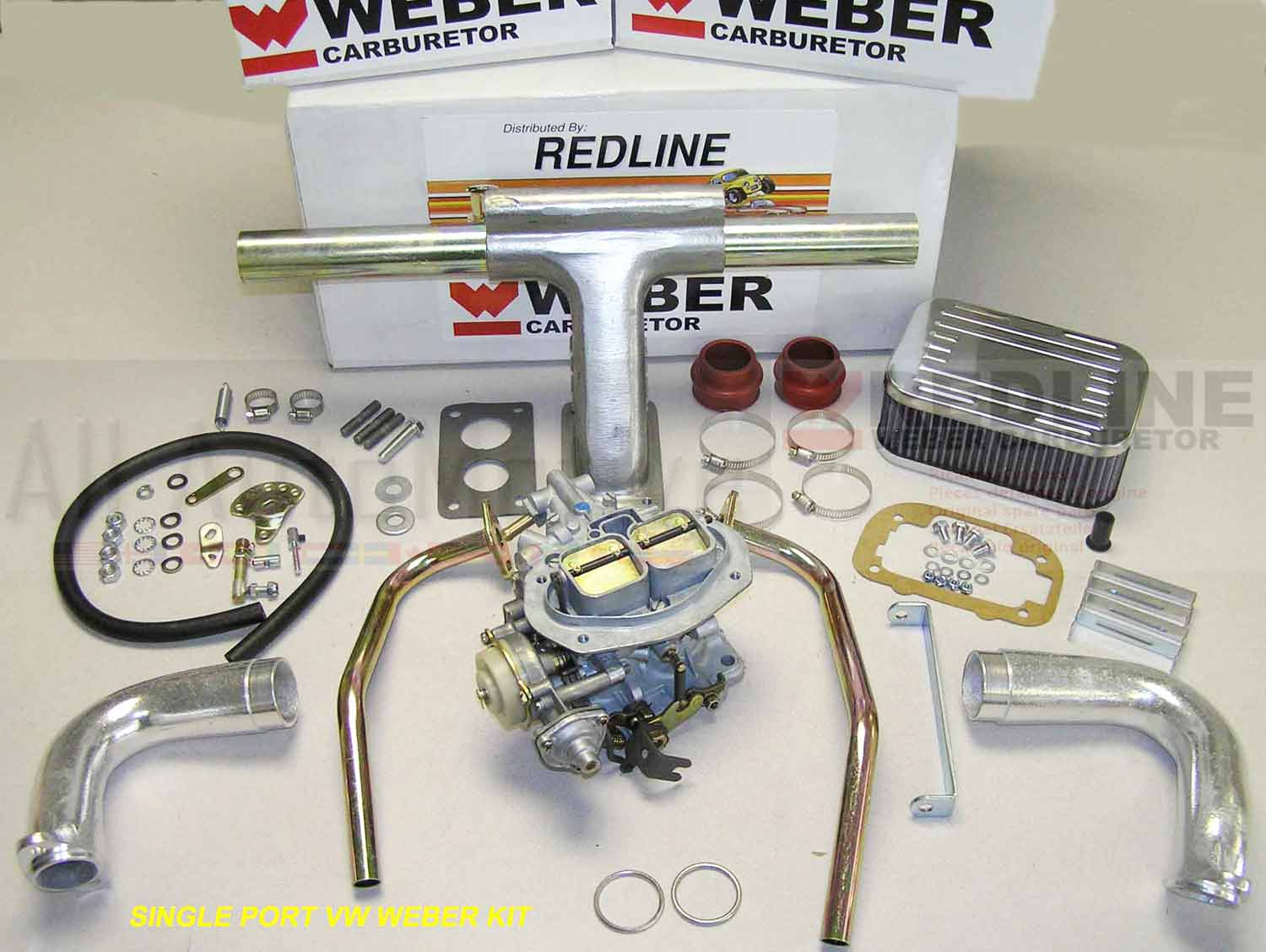 Details about VW Bug Bus Weber conversion kit for single port heads fits  Type1 Beetle & Type2