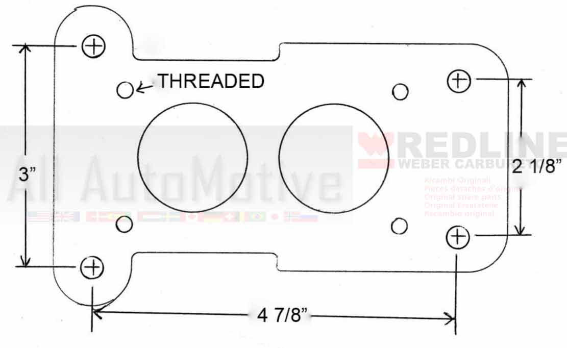 Details about Jeep Chevy GMC 2.8 Weber Carburetor Conversion kit on