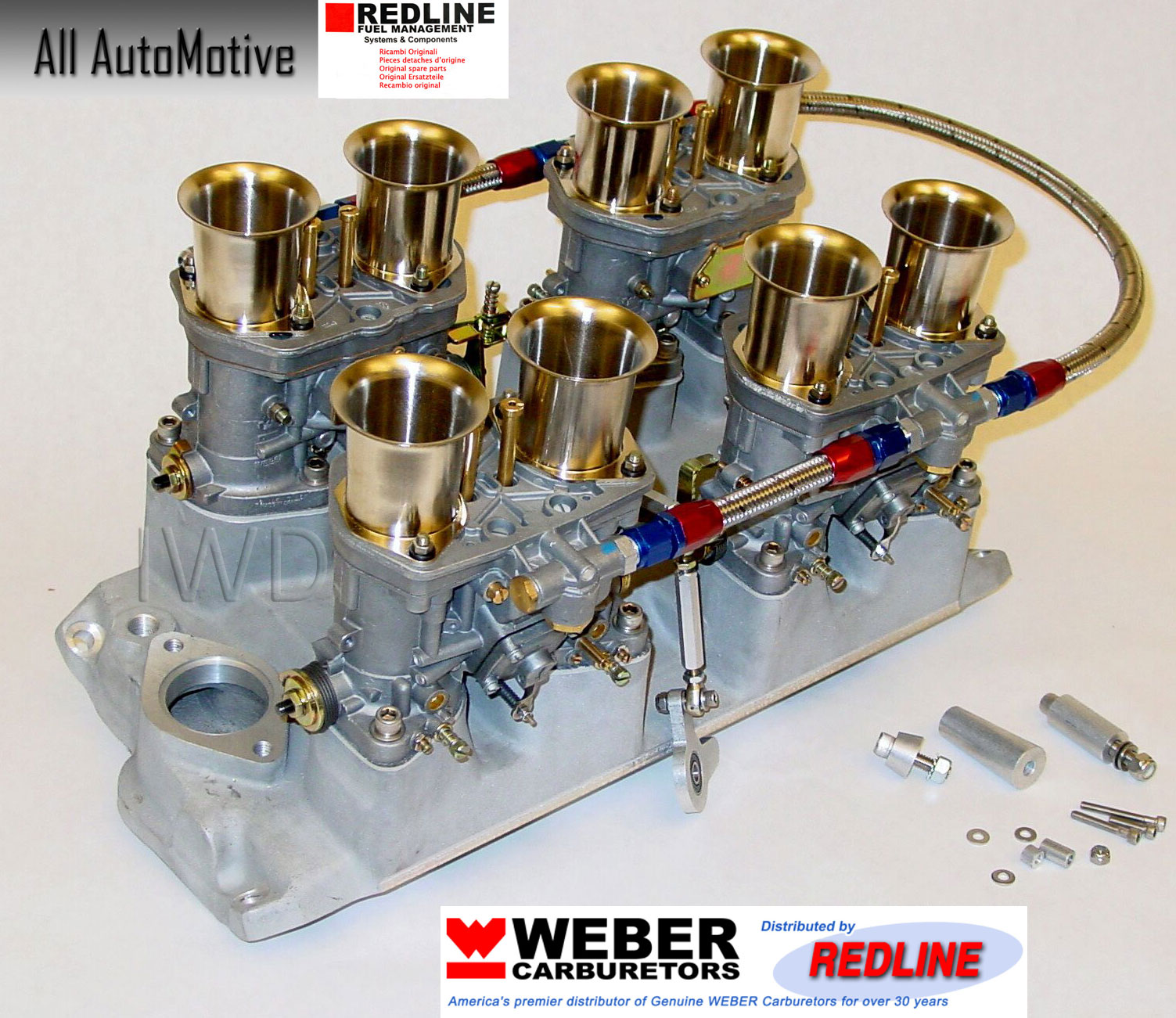 Details about Small Block Chevy 283 327 350 Weber kit w/intake, linkage &  genuine 44IDF webers
